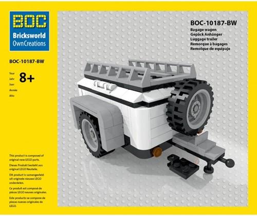 BOC-10187-BW Bagagewagen wit
