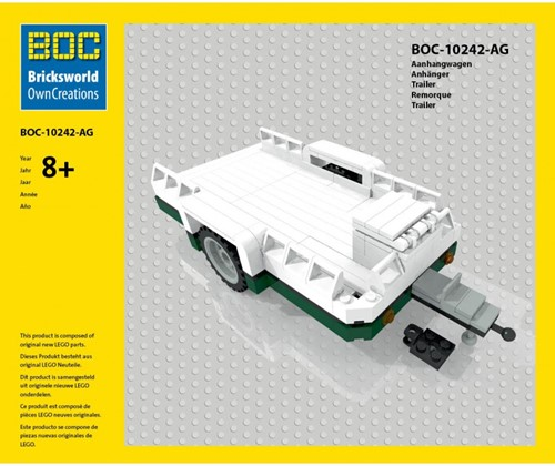 BOC-10242-AG Aanhangwagen groen