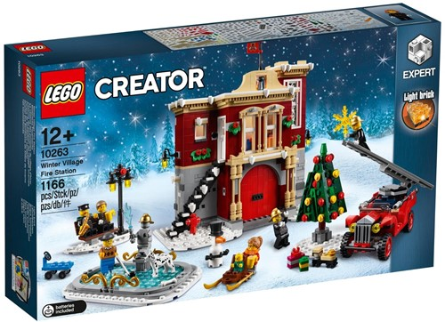 LEGO Creator Expert Brandweerkazerne in winterdorp - 10263