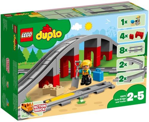 LEGO DUPLO Mijn Stad Treinbrug en -rails - 10872