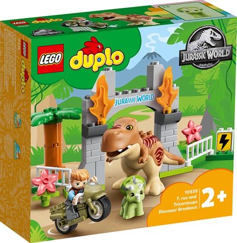LEGO DUPLO Jurassic World T. rex en Triceratops dinosaurus ontsnapping - 10939