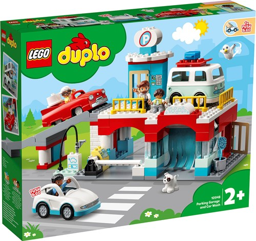 LEGO DUPLO Stad Parkeergarage en wasstraat - 10948
