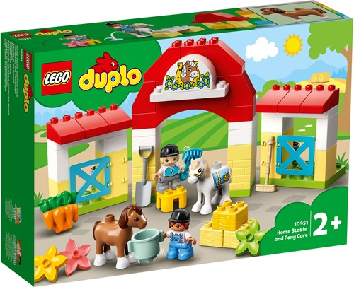 LEGO DUPLO Mijn Stad Paardenstal en pony's verzorgen - 10951