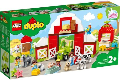 LEGO DUPLO Mijn Stad Schuur, tractor en boerderijdieren verzorgen - 10952