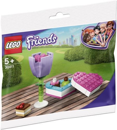 LEGO Friends Bonbondoosje en bloem (polybag) - 30411
