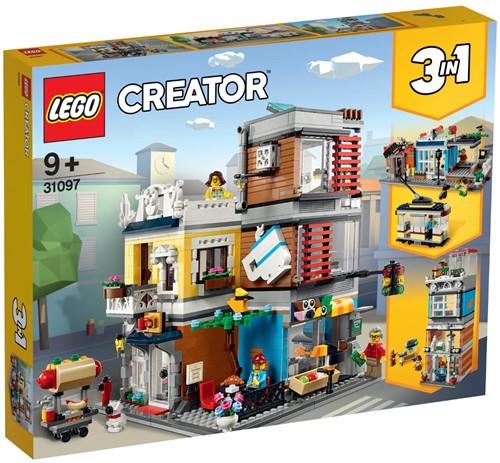LEGO Creator Woonhuis, dierenwinkel & café - 31097
