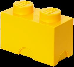 LEGO Storage Brick 2 Geel - 4002