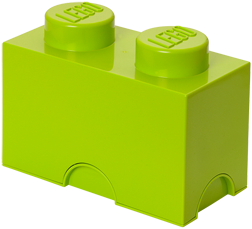 LEGO Storage Brick 2 Lime Groen - 4002