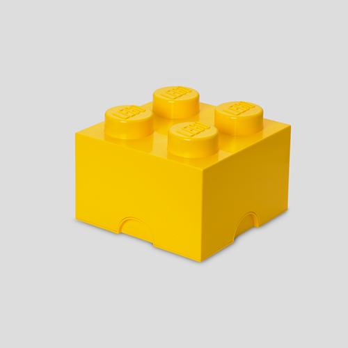 LEGO Storage Brick 4 Geel - 4003