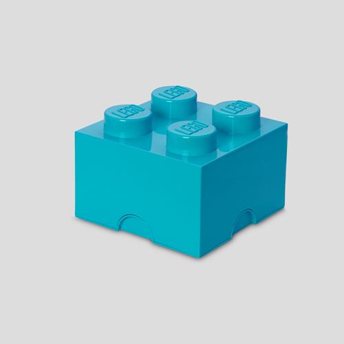 LEGO Storage Brick 4 Design Azur Blauw - 4003
