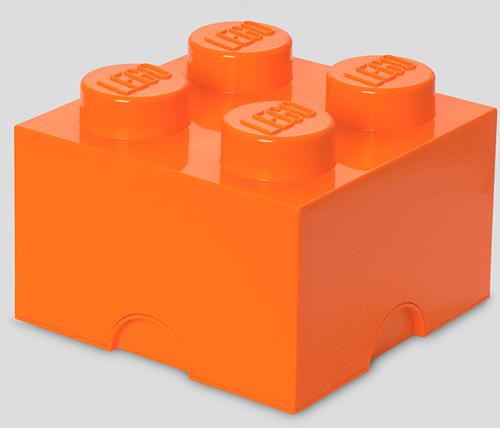 LEGO Storage Brick 4 Oranje - 4003