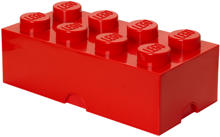 LEGO Storage Brick 8 Rood - 4004