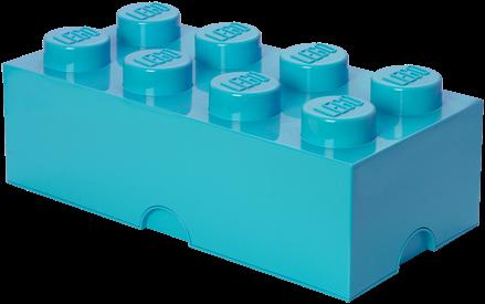 LEGO Storage Brick 8 Design Azur Blauw - 4004