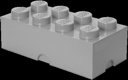 LEGO Storage Brick 8 Design Stone Grijs - 4004