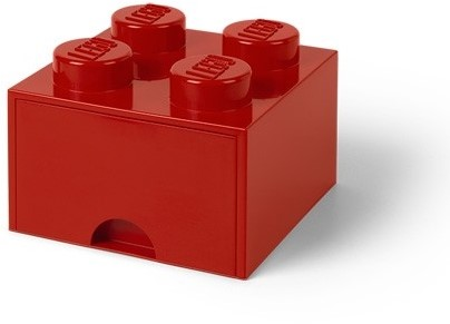 LEGO Brick 4 Opberglade (1x lade) Bright Rood - 4005