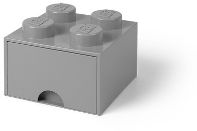LEGO Brick 4 Opberglade (1x lade) Medium Stone Grijs - 4005