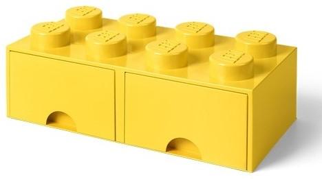 LEGO Brick 8 Opberglade (2x lade) Bright Geel - 4006