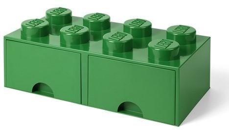 LEGO Brick 8 Opberglade (2x lade) Donker Groen - 4006