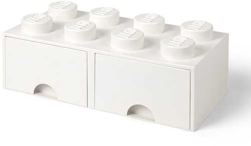 LEGO Brick 8 Opberglade (2x lade) Wit - 4006