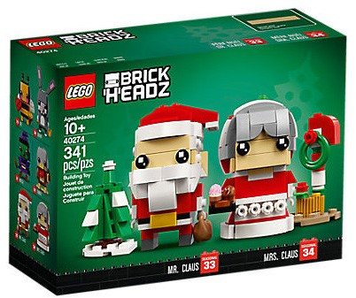 LEGO BrickHeadz™ 40274 Kerstman en kerstvrouw