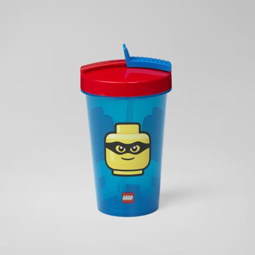 LEGO Drinkbeker met rietje - Iconic - 4044 (blauw/rood)