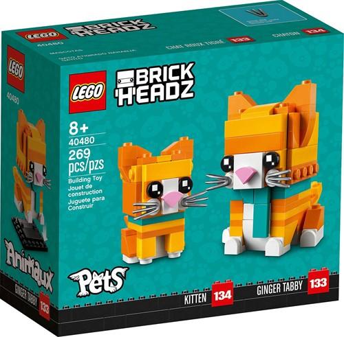 LEGO BrickHeadz™ Rode gestreepte kat - 40480