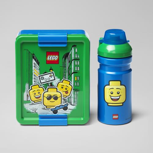 LEGO Lunchset - Boy - 4058 (blauw/groen)