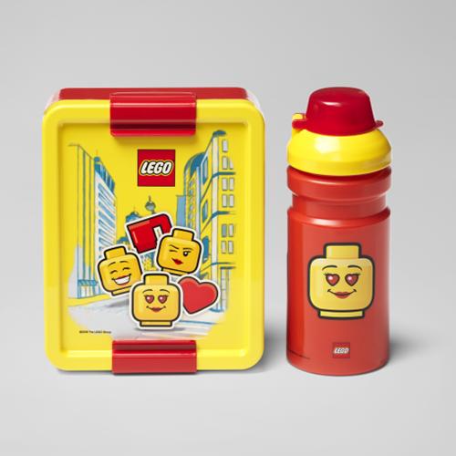 LEGO Lunchset - Girl - 4058 (rood/geel)