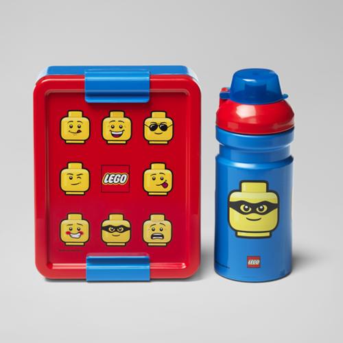 LEGO Lunchset - Iconic - 4058 (blauw/rood)