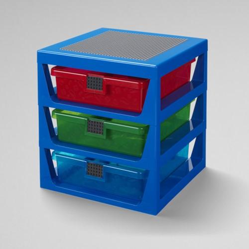LEGO Opbergrek met 3 laden Blauw - 4095