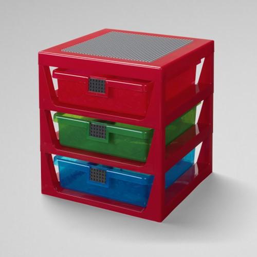 LEGO Opbergrek met 3 laden Rood - 4095