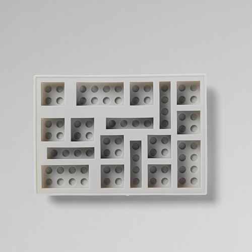 LEGO® steen ijsblokjesvorm – grijs - 4100