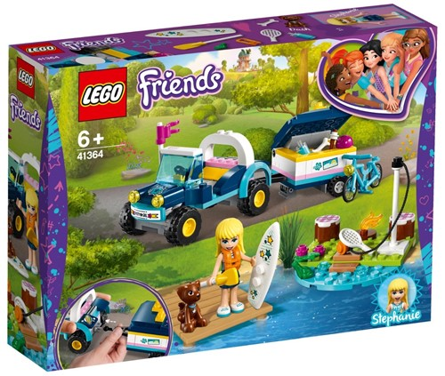 LEGO Friends 41364 Stephanie's buggy en aanhanger