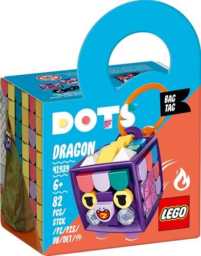 LEGO DOTS Tassenhanger draak - 41939
