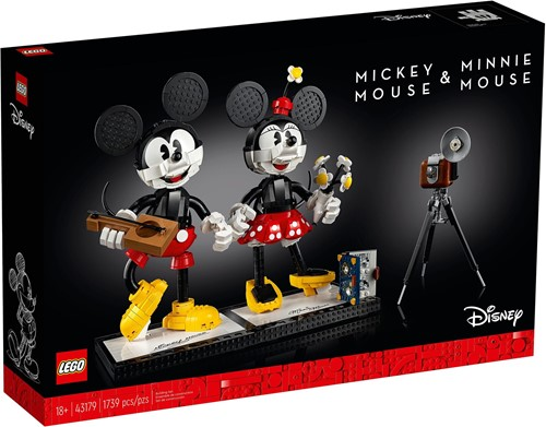 LEGO Disney™ 43179 Mickey Mouse & Minnie Mouse personages om zelf te bouwen