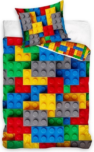 LEGO Dekbedovertrek Classic Bricks Basic-color