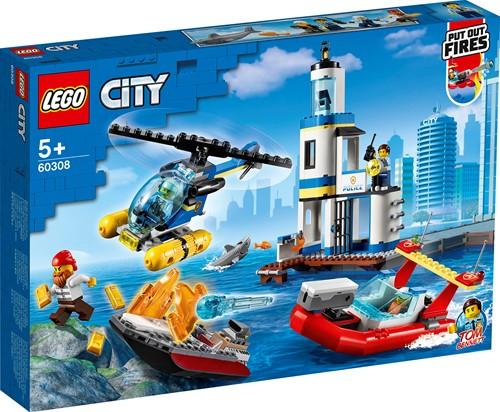 LEGO City Kustpolitie en brandmissie - 60308