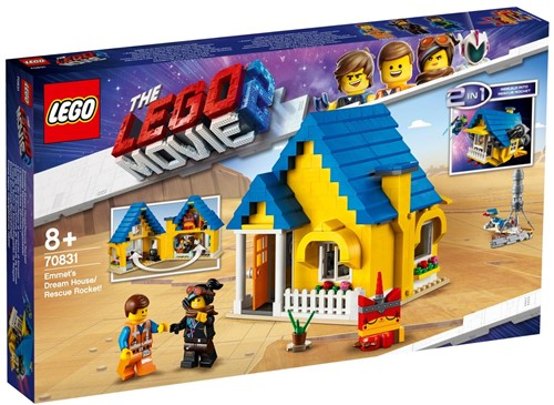 The LEGO® Movie 2™ Emmets droomhuis/reddingsraket - 70831