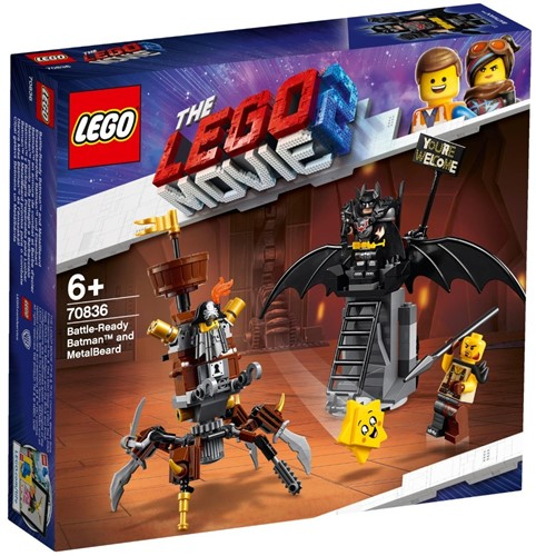 The LEGO® Movie 2™ Gevechtsklare Batman™ en Metaalbaard - 70836