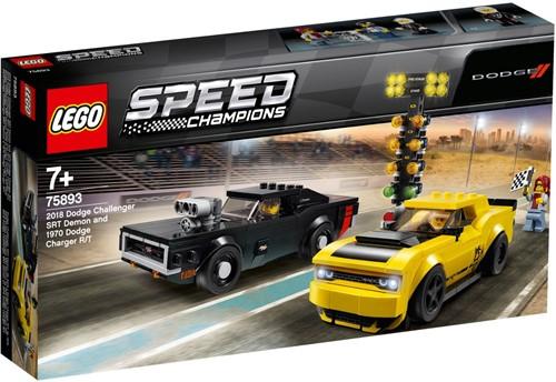 LEGO Speed Champions 2018 Dodge Challenger SRT Demon en 1970 Dodge Charger R/T - 75893