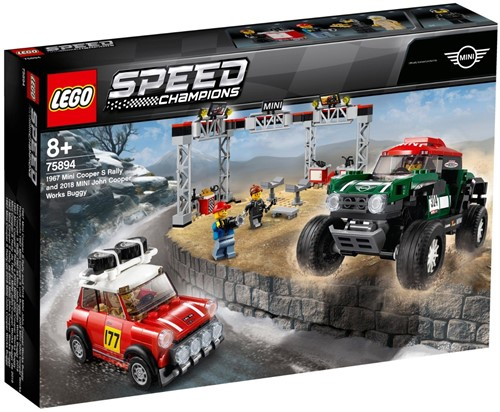 LEGO Speed Champions 1967 Mini Cooper S Rally en 2018 MINI John Cooper Works Buggy - 75894