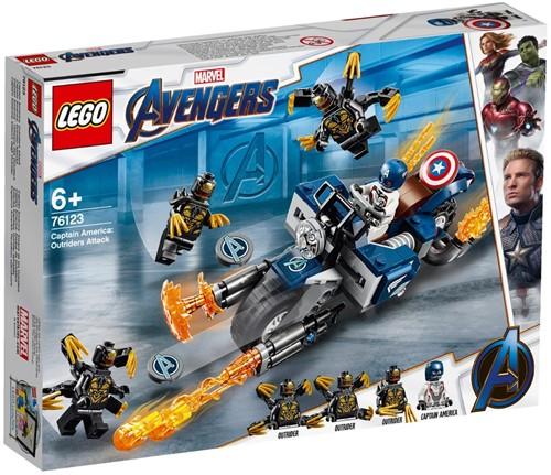LEGO Super Heroes 76123 Captain America: Aanval van de Outriders