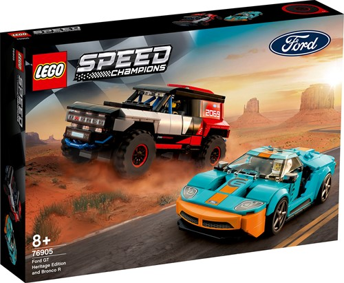 LEGO Speed Champions Ford GT Heritage Edition en Bronco R - 76905