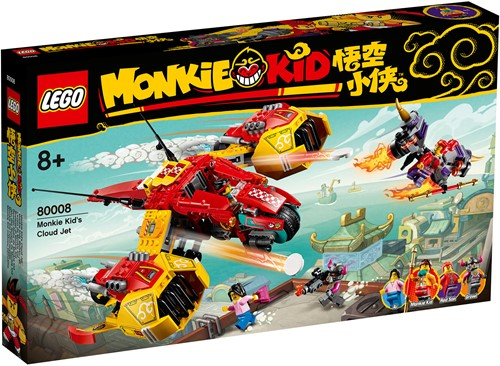 LEGO Monkie Kid™ Monkie Kid's wolkenvliegtuig – 80008