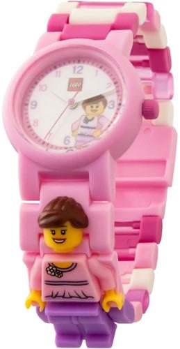 LEGO Classic Pink Minifiguur horloge - 8021667