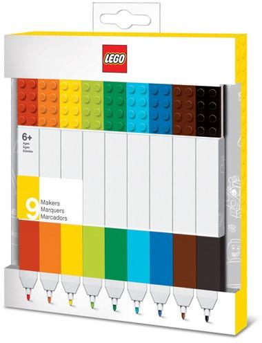 LEGO Classic Set van 9 markeerstiften - 5005147