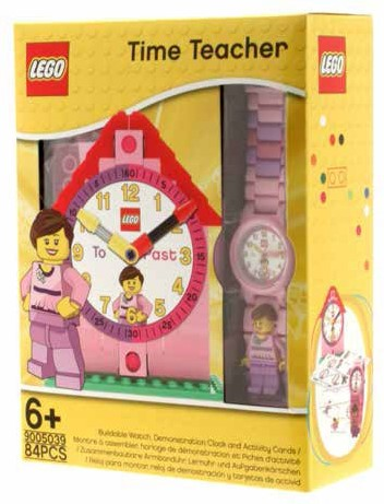 LEGO® Time-Teacher Girl-minifiguur horloge & klok - 9005039
