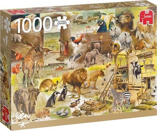 Rien Poortvliet: Bouw van de ark van Noach - Puzzel 1000 stukjes