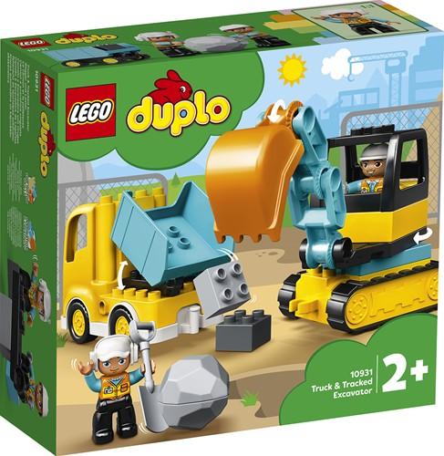 LEGO DUPLO Mijn Stad 10931 Truck & Graafmachine met rupsbanden