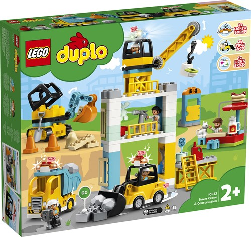LEGO DUPLO Mijn Stad Torenkraan & Bouwterrein - 10933